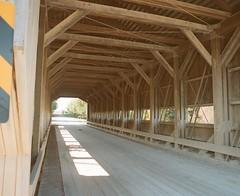 Caine Road Bridge Interior (Sassenach5) Tags: ashtabulacounty coveredbridge bridge pentax 6x7 67 mediumformat 120film 120 idealformat supertakumar 55mm f35 analog agfa agfacolorxps160 expired