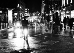lightsway bw (Meine50mm || My50mm) Tags: bw blackandwhite sw streetphotography street night nightshot man peo people rain raining urban city metropolitan light moment life