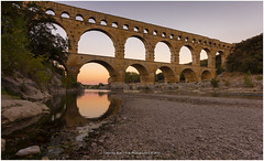 French sunset, France (CvK Photography) Tags: bridge canon color cvk europe france holiday nature outdoor pontdugard provence reflection summer verspontdugard languedocroussillonmidipyrn frankrijk languedocroussillonmidipyrnes fr sunset