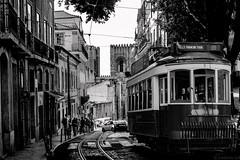Tram (Meculda) Tags: lisbonne sè tram monochrome extérieur lisboa blackandwhite lisbon bw eglise monument urbain nooffcameraflash removedfromstrobistpool seerule1