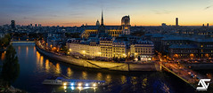 Notre Dame & Panthéon (A.G. Photographe) Tags: anto antoxiii xiii ag agphotographe paris parisien parisian france french français europe capitale d810 nikon nikkor 2470 notredame cathédrale panthéon sunset heurebleue bluehour iledelacité
