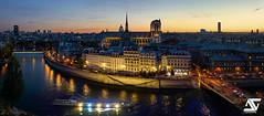 Notre Dame & Panthon (A.G. Photographe) Tags: anto antoxiii xiii ag agphotographe paris parisien parisian france french franais europe capitale d810 nikon nikkor 2470 notredame cathdrale panthon sunset heurebleue bluehour iledelacit