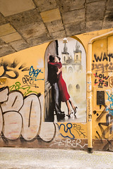 Under the Bridge (romanboed) Tags: street leica m 240 summilux 50 europe czech republic czechia bohemia prague cesko ceska republika praha hlavni mesto city cityscape travel tourism grafitti charles bridge karluv most praag prag praga