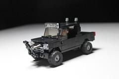 Custom Ford F-150 ([C]oolcustomguy) Tags: lego ford f150 1995 bull bar bush lighht exhaust stacks brickarms brick arms