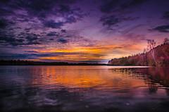 """ Sunset Dreilndersee "" (Kalbonsai) Tags: nikon d5100 1685mm dreilndersee sunset zonsondergang outdoorphotography naturshot sun waterscape clouds color autumn germany"