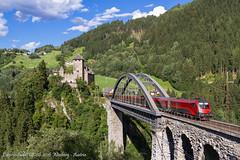 Il ponte (Daniele Sudati) Tags: 1116 1116bb railjet bb wiesberg trisannabrcke austria tirolo ferrovia viadotto ponte arlberg arlbergbahn landeck treno zug eisenbahn brcke