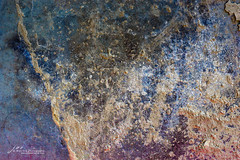 splatter Art 104 (Jae at Wits End) Tags: textured abstract blue color rust texture corroded corrosion line lines metal oxidation oxidized patina pattern rustic rusty shape shapes wear weathered