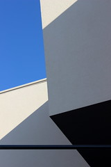 abstraction in architecture (claredlgm1) Tags: architecture contrasts design modern art triangles shadows white walls abstract building minimal lines black