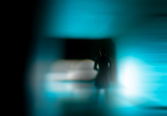My Mind Is Going (Hans Maso) Tags: blue abstract man canon lights shadows tunnel 5d markiii ef35mmf14l canoneos5dmarkiii
