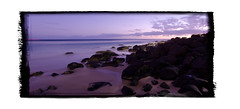Rainbow Bay Sunrise (Dame Beau) Tags: longexposure seascape beach sunrise landscape nikon rocks sigma australia queensland goldcoast rainbowbay d7000