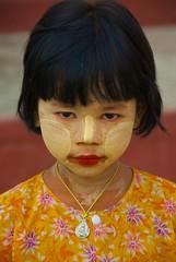 Burma Girl, Myanmar (Peter Cook UK) Tags: burma myanmar bagan younggirl thanaka shwezigonpagoda