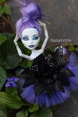 Spectacular Spectra (Nataloons) Tags: fashion monster toy high ballerina doll dress purple handmade violet etsy spectra mattel explored monsterhigh vondergeist spectravondergeist aghoulsnightout