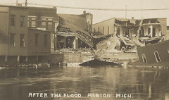 SW Albion MI DISASTER FLOOD RPPC 1908 Downtown Homes Stores Businesses Flood Devastation EC Devoe Boldt Brothers & more5 (UpNorth Memories - Donald (Don) Harrison) Tags: travel canada heritage history tourism ferry vintage michigan postcard memories upnorth freighters disasters upnorthmemories donharrison rppc
