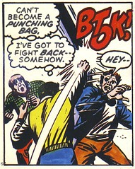 BTOK! (Wires In The Walls) Tags: panel spiderman peterparker comicbook scanned 1960s marvel origin minicomic btok throwingapunch randomgoons