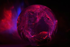 Nebula Red (Marc Geuzinge Photography) Tags: macro art mystery photography nikon energy time crystal space sigma health sphere healing quartz crystalball holistic 150mm d90 marcgeuzinge marcgeuzingephotography