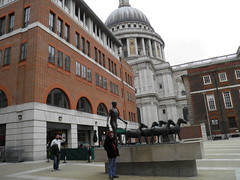 Paternoster Square (Normann) Tags: sculpture london statue stpaulscathedral terje