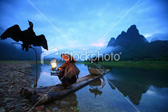 Fishermen (MPBHAIBO) Tags: china morning blue cloud mist mountain reflection water fog stone sunrise river landscape dawn liriver fishing fisherman asia dusk guilin yangshuo hill cormorant relaxation cloudscape stormcloud cumulonimbus chineseculture xingping ruralscene fishingindustry karstformation chineseethnicity woodenraft guangxiregion