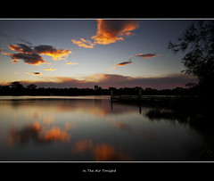 In The Air Tonight (EmeraldImaging) Tags: sunset lake clouds smoke norton chipping
