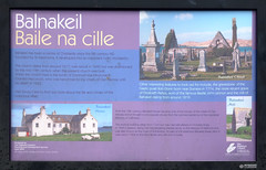 244-20130511_Faraid Head walk-Sutherland-Balnakeil House and Church informnation board (Nick Kaye) Tags: church landscape coast scotland highlands sutherland
