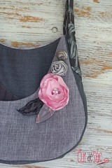 Rachel bag, eco-friendly purse (Bouclenoire) Tags: bag grey recycled purse eco necktie ecofriendly reclaimed upcycled