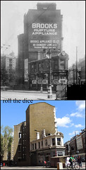 Rosebery Avenue`1945-2013 (roll the dice) Tags: old uk trees london art history classic architecture advertising camden collection flats wc local streetfurniture clerkenwell urinals unisex toilets hairdressers brooks ec1 oldandnew dwelling wc1 pastandpresent bygone hereandnow jameshartnoll jrstudios