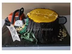 just wont cut it (The Whole Cake and Caboodle ( lisa )) Tags: wood cakes cake saw log cut chainsaw stump tool whangarei caboodle thewholecakeandcaboodle birthdaycakeswhangarei