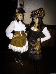 [...] But Pleased Ladies (JF Sebastian) Tags: barcelona girls portrait smile sepia costume pub dress lolita steampunk morethan100visits morethan250visits nikoncoolpixs9100 eurosteamcon2012