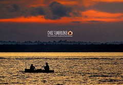 Fisherman and the sunset (Chaz Tumbelaka Photography) Tags: sunset fisherman balikpapan
