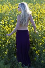 Janelle (austinspace) Tags: sunset portrait woman field washington model spokane farm blond blonde fitness magichour canola hwy2 reardan