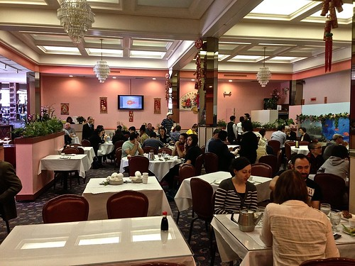 inside Canton Seafood Dim Sum Restaurant in San Francisco