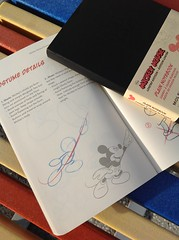 Moleskine / Mickey limited Edition with How-to-draw-Mickey guide ) (haphopper) Tags: pictures art word logo colorful parks australia disney mickey goods font southport goldcoast big5  big8 2013
