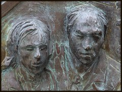 "Sculptural Relief: ""Transcending,"" Hart Plaza--Detroit MI (pinehurst19475) Tags: city bronze faces michigan labor detroit solidarity riverfront publicart civiccenter sculptor hartplaza outdoorart transcending sculpturalrelief artinpublicspaces sergiodegiusti"