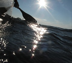 Mid summer sparkles (deanspic) Tags: summer water sparkles waves mary paddle canoe bow flare canoeing paddling waterline stlawrenceriver gunnel watermarks g10 photopaddling photopaddle sheekisland gunnelview gunnelshot suneflare