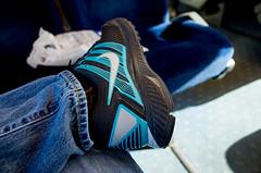 R0000300 (.Damo.) Tags: comfortable train seat melbourne nike sneaker runner ricoh ricohgrdigital ricohgr ballarat vline 28mmf28 ballaratinternationalfotobiennale