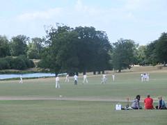 Village cricket (oldfirehazard) Tags: summer england hall norfolk august cricket holkham 2013