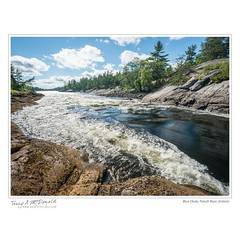 Blue Chute, French River, Ontario (Terry McDonald - www.luxborealis.com) Tags: ontario canada canoeing paddling frenchriver waterway provincialpark 20mmnikkor sportrecreationactivity nikond800e martytannahill