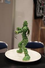 Spaghetti Warrior Figurine, volume 37 (Design Festa) Tags: japan toy tokyo design weird funny handmade fork figure warrior spaghetti figurine