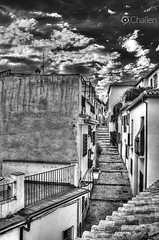 Periplo (ChALLeN12) Tags: sunset sky bw cloud white black byn blanco atardecer negro cielo granada nubes albayzin periplo