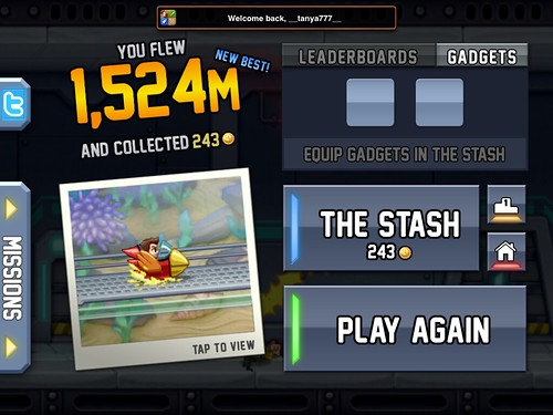 Jetpack Joyride End-game: screenshots, UI