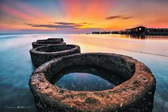 Donuts sunset ... (zakies) Tags: longexposure sunset seascape rock islands hobby donuts lowtide mabul semporna sabahsunset malaysiansunset zakiesphotography malaysianlanscape zakiesphoto