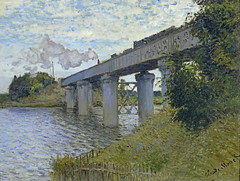W 319  Monet - The Railway Bridge at Argenteuil [1874] (petrus.agricola) Tags: bridge paris de w railway du muse le monet pont claude chemin fer argenteuil the 319 dorsay