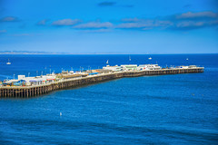 Santa Cruz Wharf - Santa Cruz CA (mbell1975) Tags: ocean california santa ca santacruz beach sc pier us warf unitedstates pacific shoreline calif cal cruz wharf