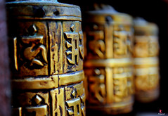 Prayer Wheel (YellowSingle ) Tags: nepal wheel temple golden nikon prayer himalaya patan f28 2470mm boudhism d700