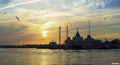 (Ayman Abu Elhussin) Tags: old city sunset sea france art history tourism architecture clouds port wonderful landscape ship cityscape egypt portsaid welcome kanal   favorit ayman    2015       suezcanal        kobba               ayman6681    suezkanalauthority  aymanabuelhussin