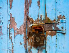 Old Lock (JKmedia) Tags: canon rust paint cornwall lock rusty clasp padlock polperro fakey madeofwood 15challengeswinner canoneos7d boultonphotography