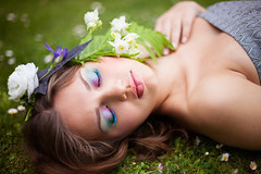 Elven Queen (Annie Fischinger Fotografie) Tags: flowers portrait woman cute eye girl beautiful beauty face fashion hair design eyes colorful lashes shot skin makeup lips shooting crown visa brows