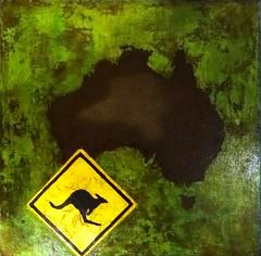 australia (Birgit.Riemann) Tags: abstract art paint acrylic modernart kunst paintings canvas australien rost birgit acryl abstrakt mixmedia känguru malerei 2015 leinwand gemälde austalia riemann hinweisschild zeitgenössischekunst kontinent acrylbilder acrylart