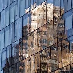 Yorkville Reflections (Joel Raskin) Tags: fragmentedreflections glass glassfacades reflections reflectiveglass nyc manhattan 86thstreet yorkville lumixgx8 gx8 lines angles geometric pattern rectangles architecture