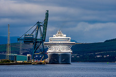 View from my Office Window (Brian Travelling) Tags: view work boat ship cruise cruiseship cruiseliner crane clydeport clyde clydecoast clydeside greenock firthofclyde