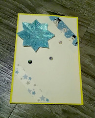 Greeting Card Winter (NiRoGiftsandDeco) Tags: handdrawn greeting card greetingcard winter season holiday star glitter washitape snowman handmade craft crafts crafting message awesome